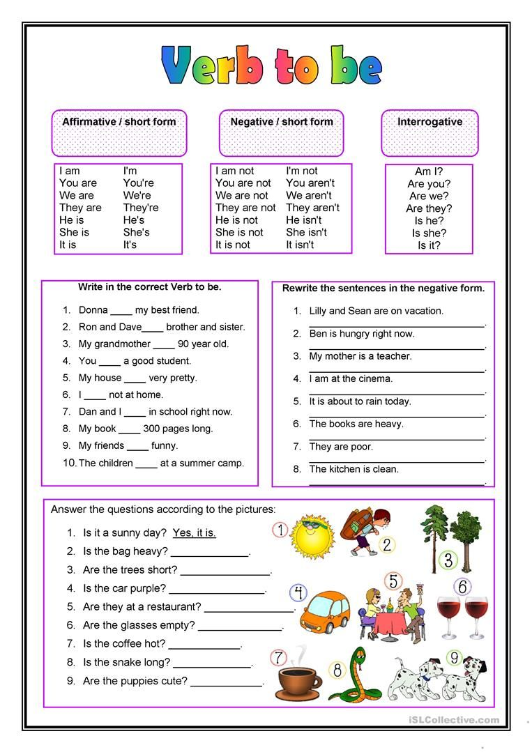 The Verb To Be Worksheet Free Esl Printable Worksheets Made By Teachers English Verbs English Grammar Worksheets English Lessons [ 1079 x 763 Pixel ]