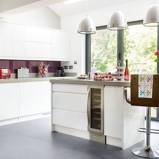 Purple Kitchen Decor Ideas: White And Purple Kitchen