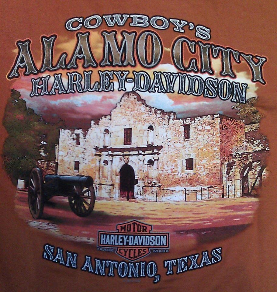 Harley Davidson San Antonio >> Alamo City San Antonio Texas Harley Davidson T Shirts