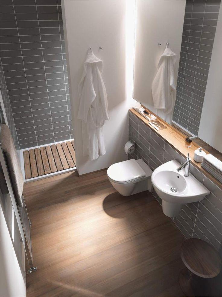 Vom Gäste-WC zum Zweitbad | Baños in 2019 | Badideen kleines bad ...