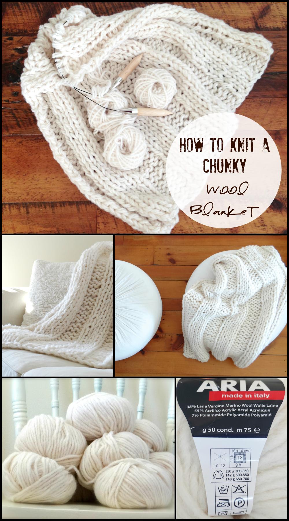 Free chunky wool blanket pattern | Chunky wool, Wool blanket and ...