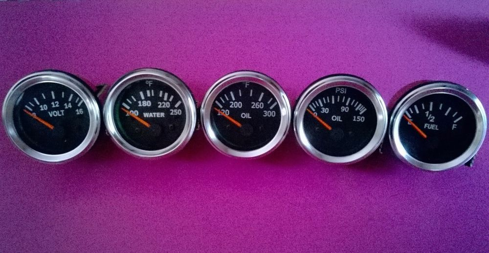 Smiths replica speedometer Set Triumph Black Face Chrome Bezel Tachometer