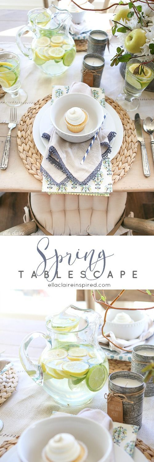 Spring Tablescape Refresh Spring tablescapes