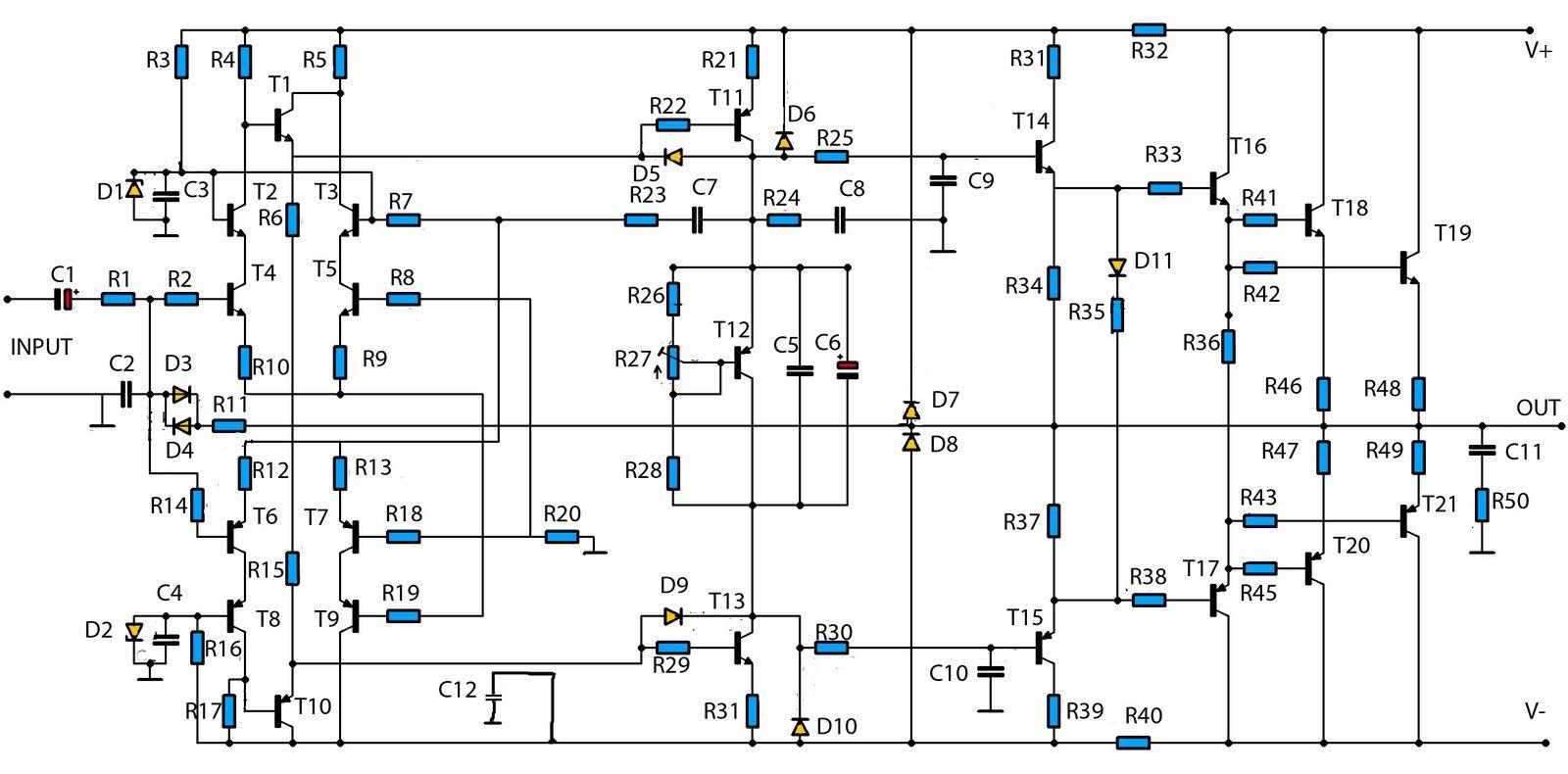 1400w high power audio amp schematic [ 1600 x 790 Pixel ]