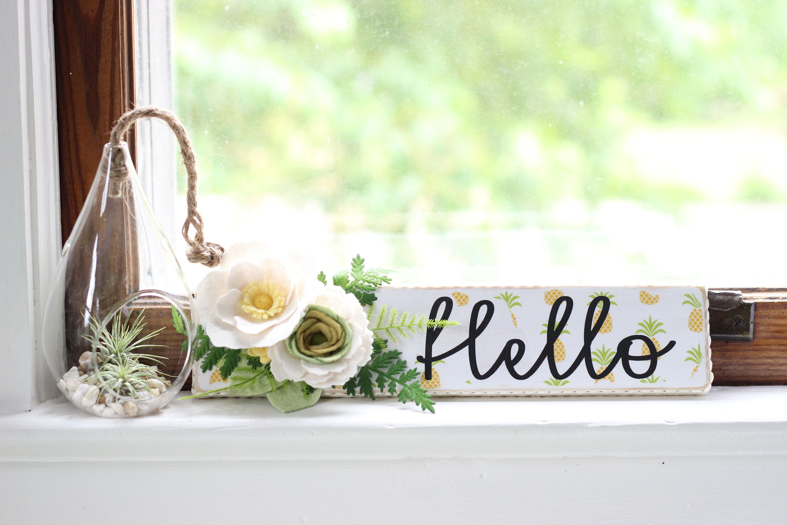 Excited To Share The Latest Addition To My Etsy Shop Pineapple Hello Wooden Sign Farmhouse Wooden Sign Distressed Sign Chef Kitchen Decor Pineapple Kitchen Wooden Signs