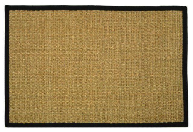 Malcolm Sea-Grass Rug, Black