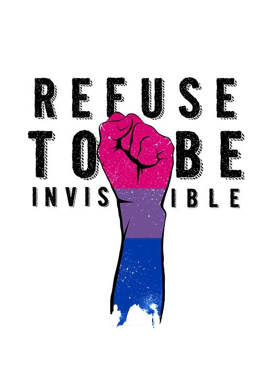 Refuse To Be Invisible Bi Flag