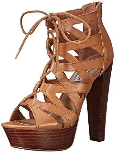 33b5cdcdda5 Steve Madden Women's Dreamgirl Dress Sandal, Tan Leather, 7.5 M US ...