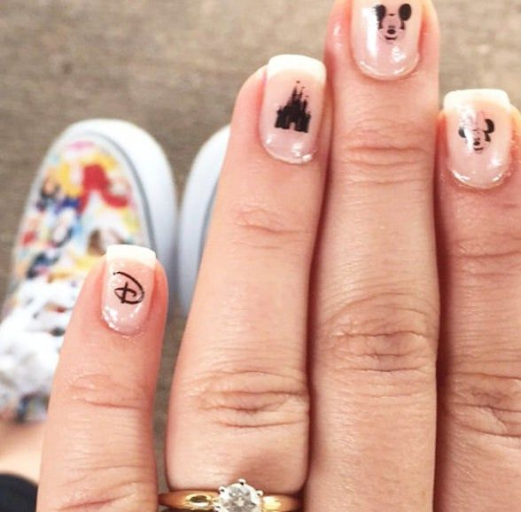 A set of easy-to-apply Disney nail decals, for a magical mani you can show off on your next visit to Walt Disney World.