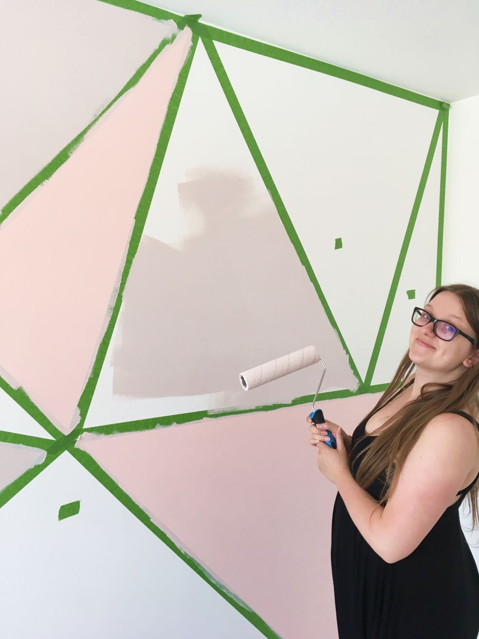 DIY Geometric Feature Wall | Lottie Does #wallpaintingideas