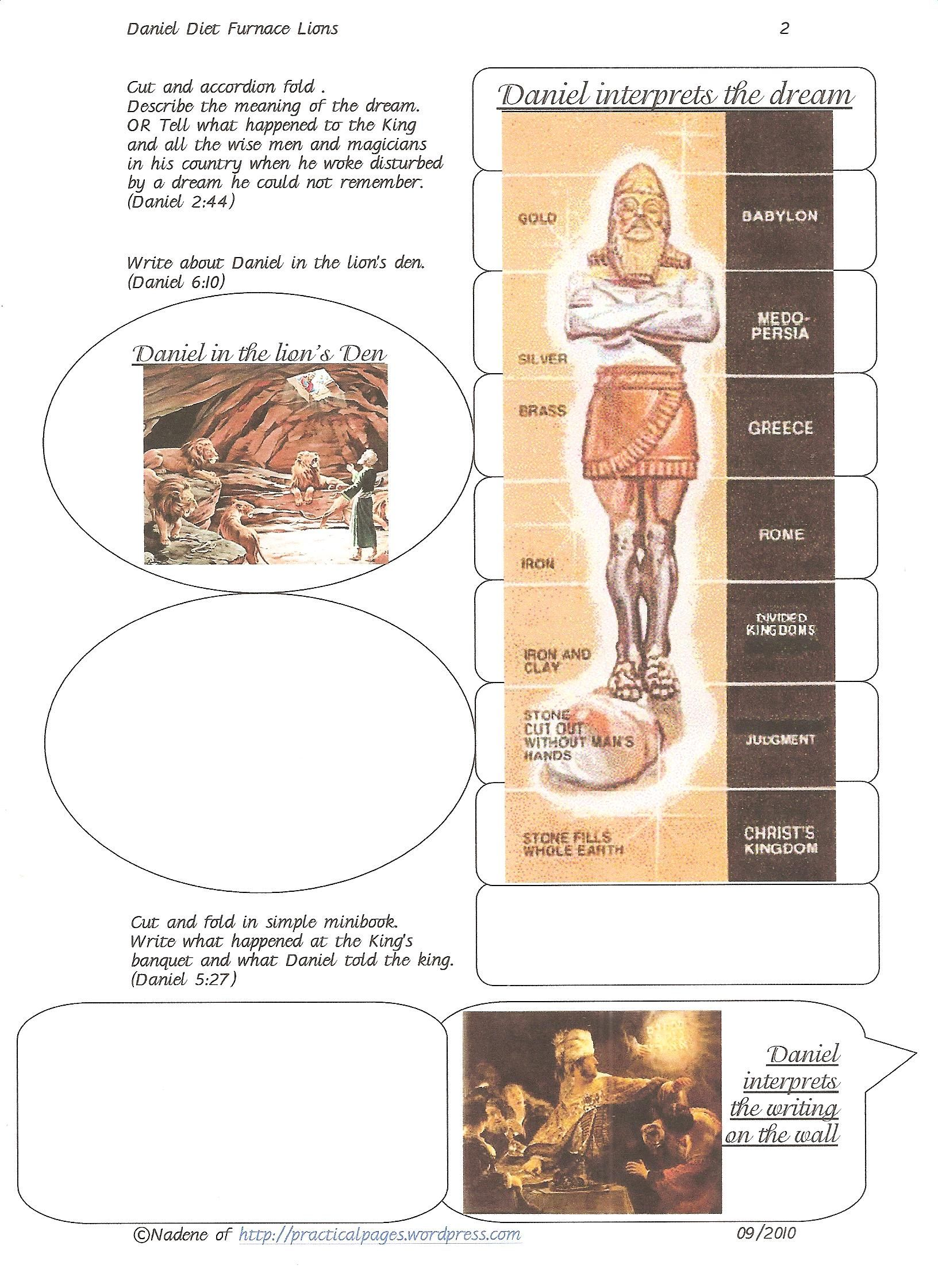 Daniel Bible Minibooks