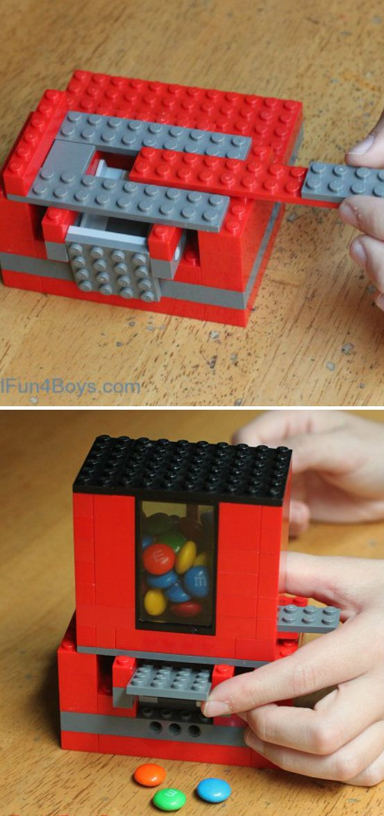 lego candy dispenser crafts tips and diy pinterest lego bauen lego und lego anleitung. Black Bedroom Furniture Sets. Home Design Ideas