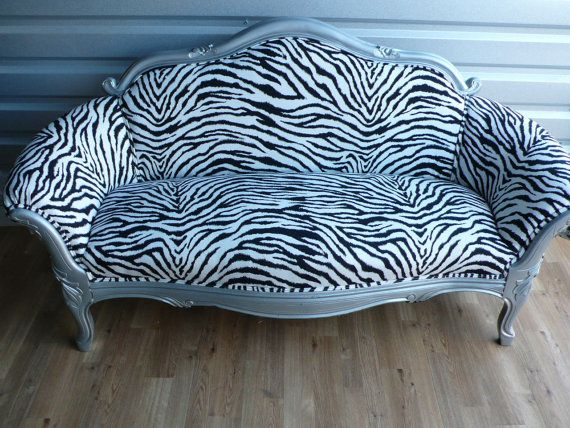 Pin By Sordelli Designs On For The Home Vintage Loveseat Zebra Decor Love Seat