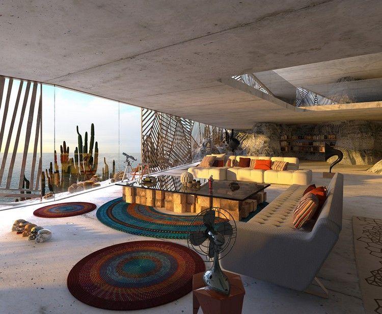 reihenhaus einrichten nachhaltiges bauwerk rustikalen elementen, nachhaltig wohnen im fels – ein umweltfreundliches projekt in, Design ideen