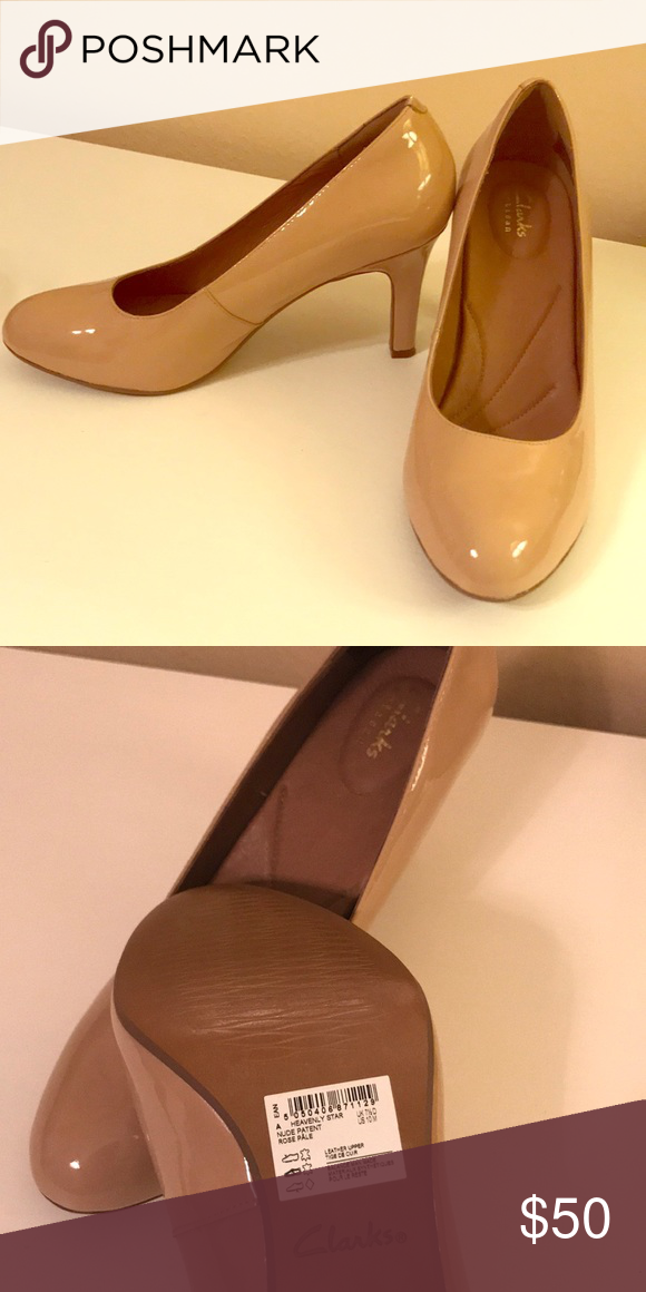 2986a718119 Clarks Artisan Heavenly Star Pumps—Rose Pale US size 10 nude pumps worn  once Clarks