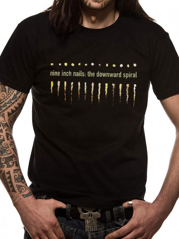 Officially licensed Nine Inch Nails t-shirt Spiral printed on a ...