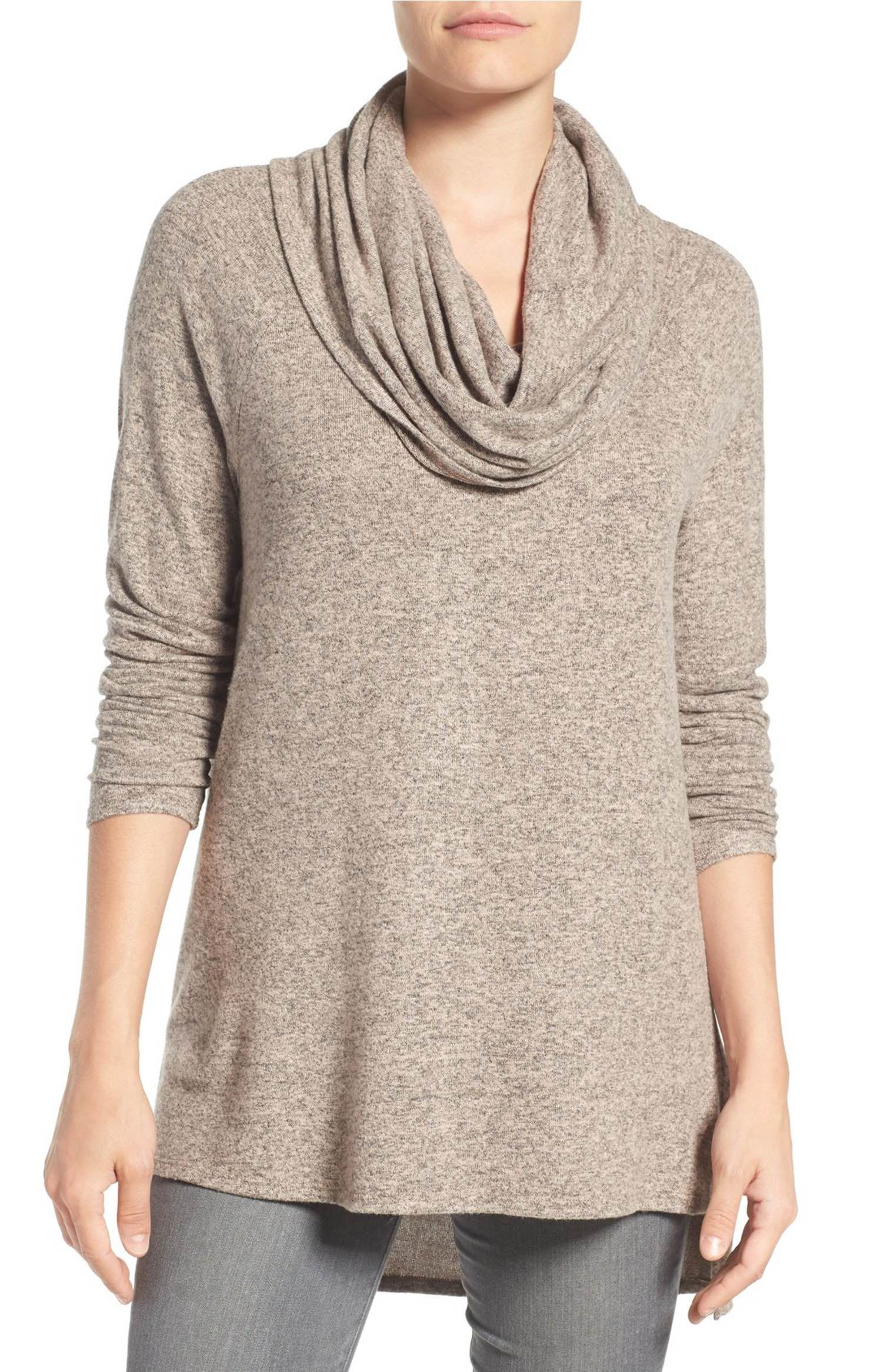 Convertible Neckline Cozy Fleece Tunic | Convertible, Neckline and ...