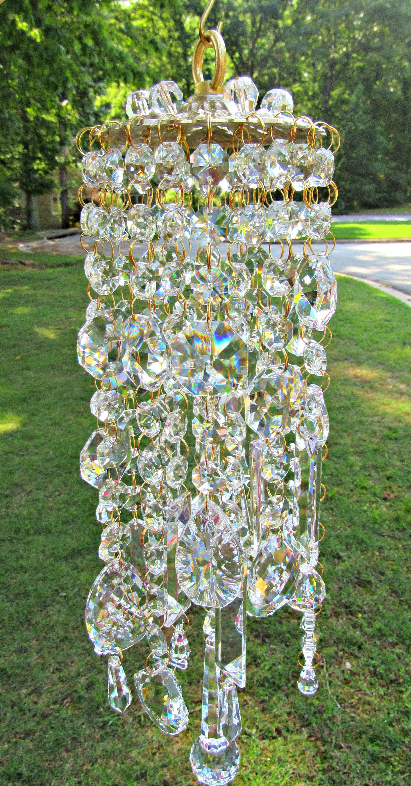 Wind Chimes Sun Catcher Garden Decor Crystal Wind Chime Glass Wind Chime Crystal Sun Catcher Patio Decor Garden Gift Wc 126 In 2020 Crystal Wind Chimes Glass Wind Chimes Wind Chimes