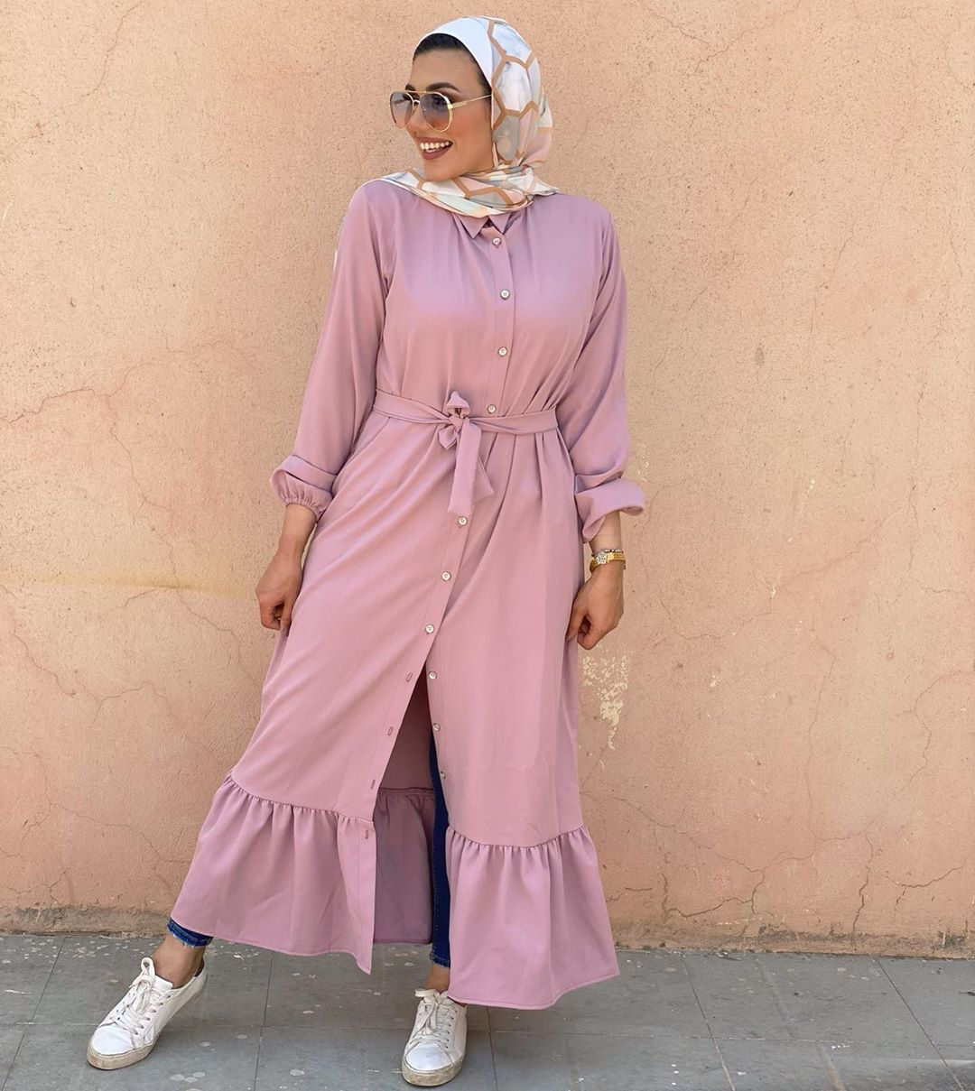 W O M A N I S T A On Instagram That Color Pink Material Rozalin Size M L Xl For Orders Fashion Coat Duster Coat
