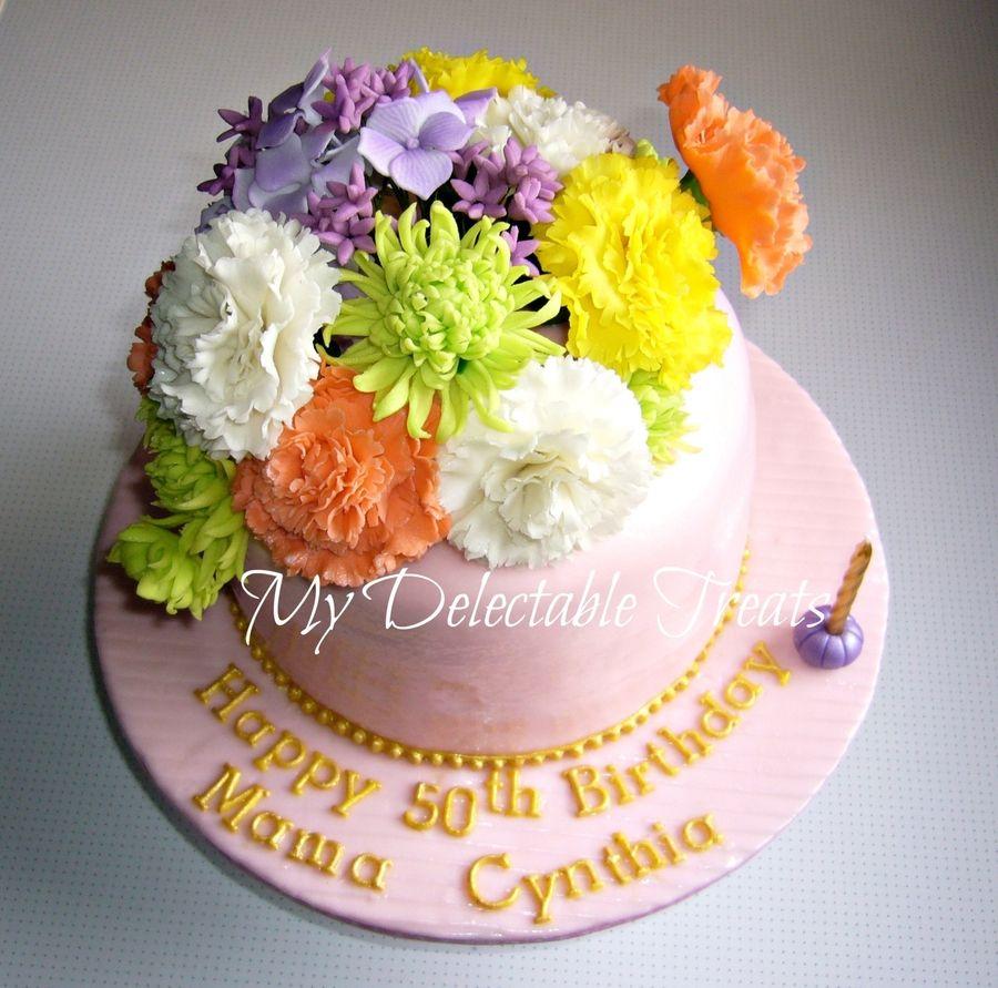 Cynthias Birthday Cake Cynthias Birthday Cake 6 inch round