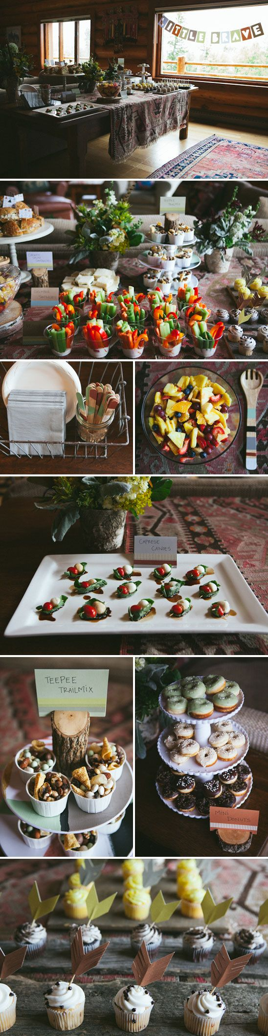 trail mix cups + basil tomato mozzarella bites @Susannah Wiksell (helen's shower):