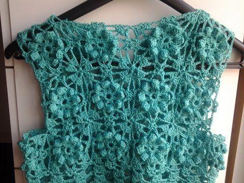 Jersey de verano a crochet 2ª parte #tutorial #DIY - YouTube