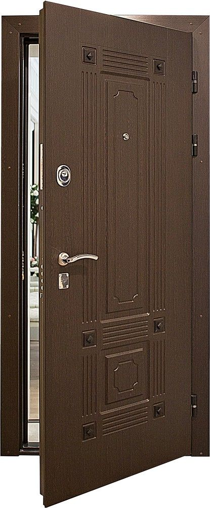 Steel Entry Door Lux Design With Two High Security Locks And A