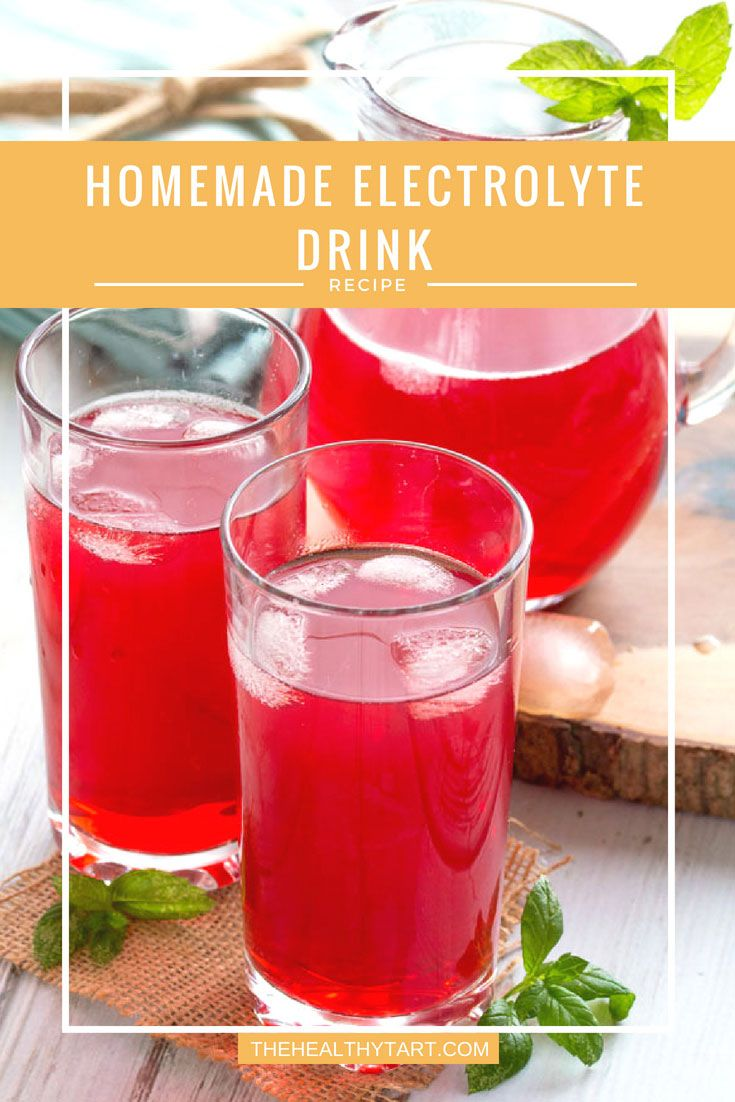 Homemade Electrolyte Drink Recipe Electrolyte drink