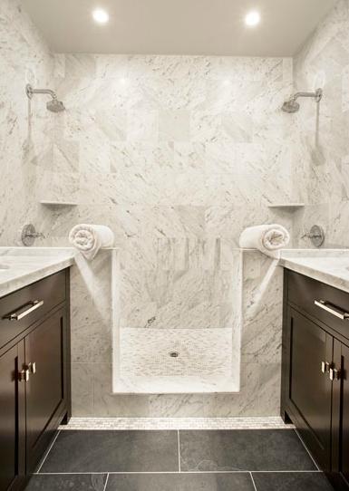 Marble Shower Tiles Transitional Bathroom Sutro Architects Slate Tile Floor Brown Tile Floor Slate Tile