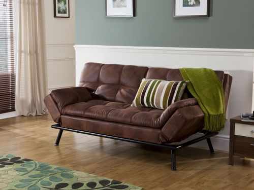 Minimalist Distressed Leather Brown Sofa Leather Sofa Bed Brown