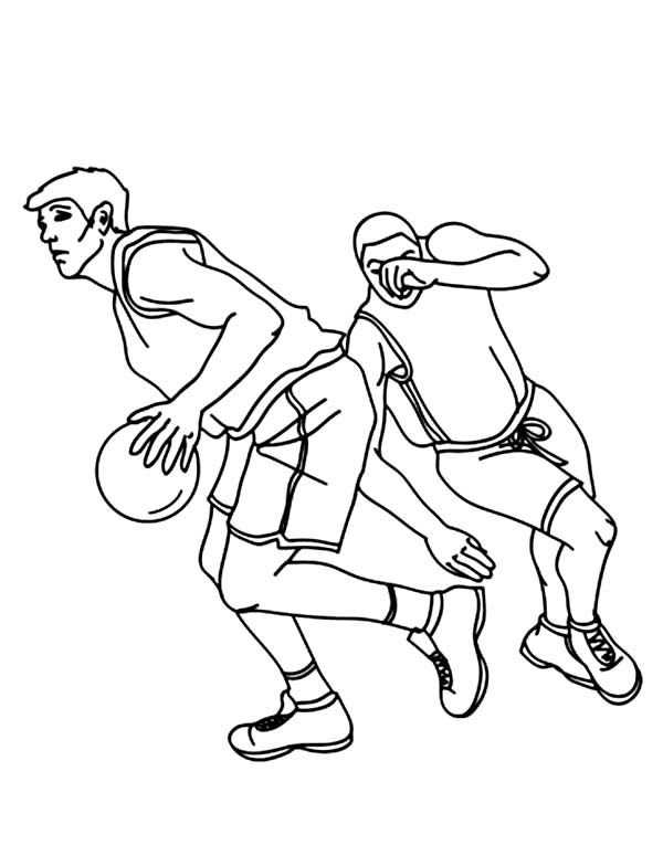 Nba Player Drive Through The Basket Coloring Page Color Luna Coloring Pages Nba Players Nba