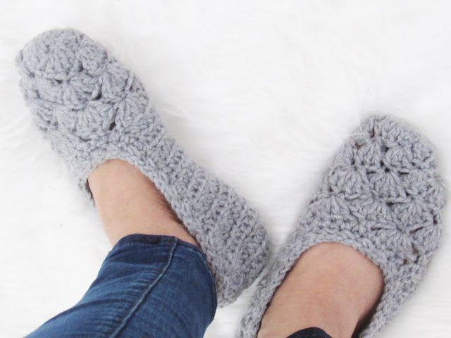 Free Crochet Slipper Pattern, Very easy | SLIPPERS | Pinterest