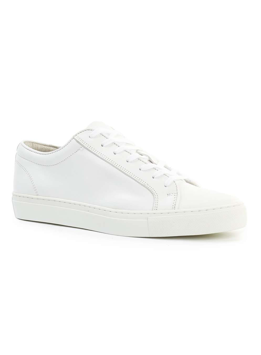 White Leather Trainers - Men's Casual
