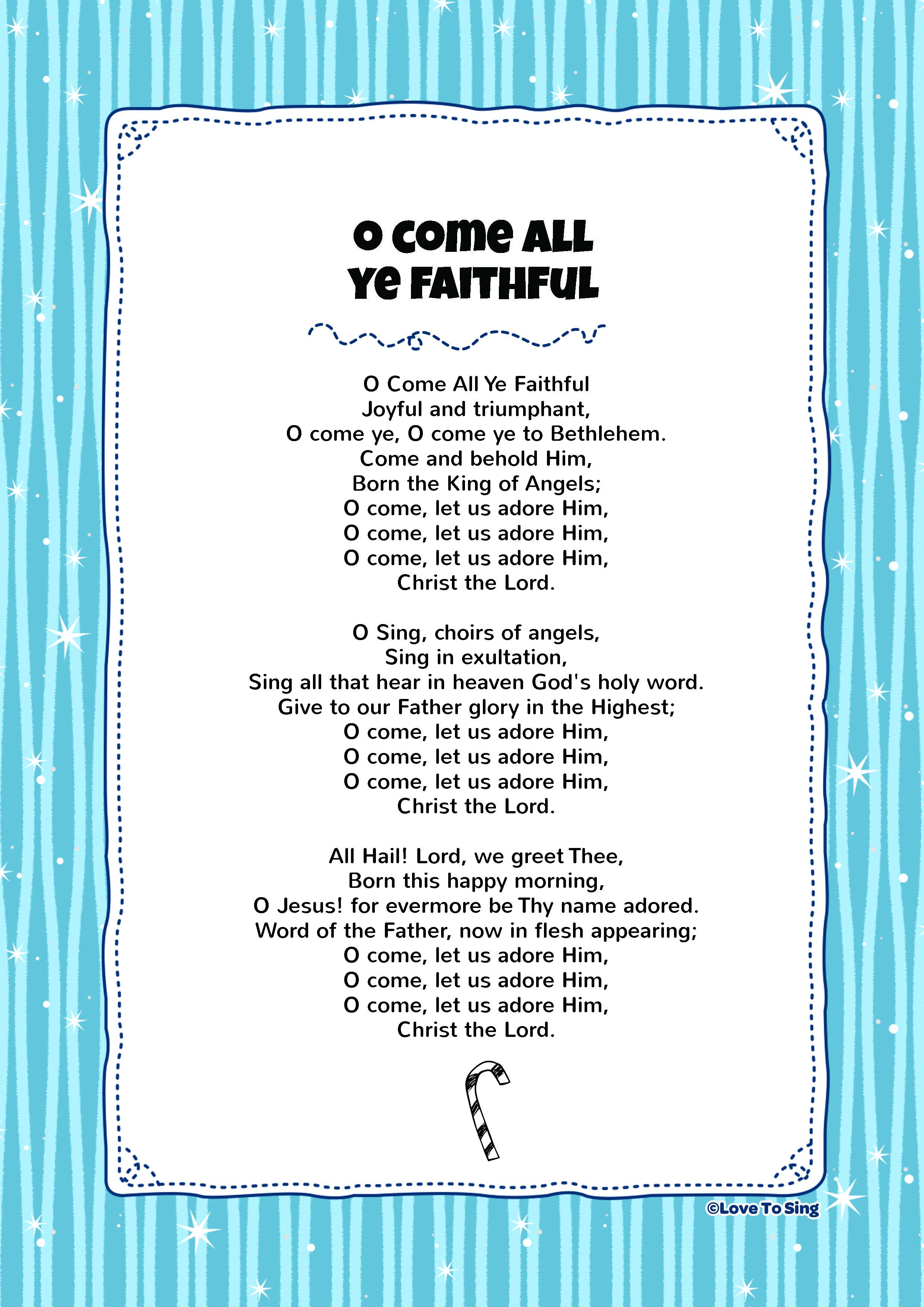 O Come All Ye Faithful | SS Songs | Pinterest | Christmas, Songs and ...