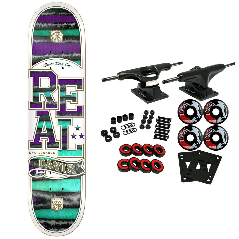 """REAL Skateboard plete DAVIS SPECTRUM LOWPRO 8 18"""" 8 18"""" Core"""