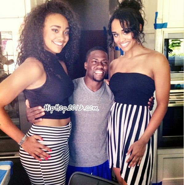 Kevin Hart Stands Between The Gonzalez Twins Dyl Kota