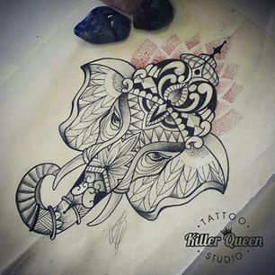 Geometric Ganesh Google Search Body Art Tattoos Elephant Tattoos Cool Tattoos