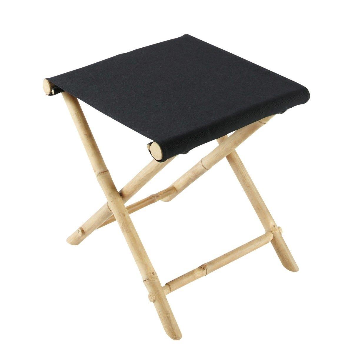 Black Bamboo luggage rack / Stool