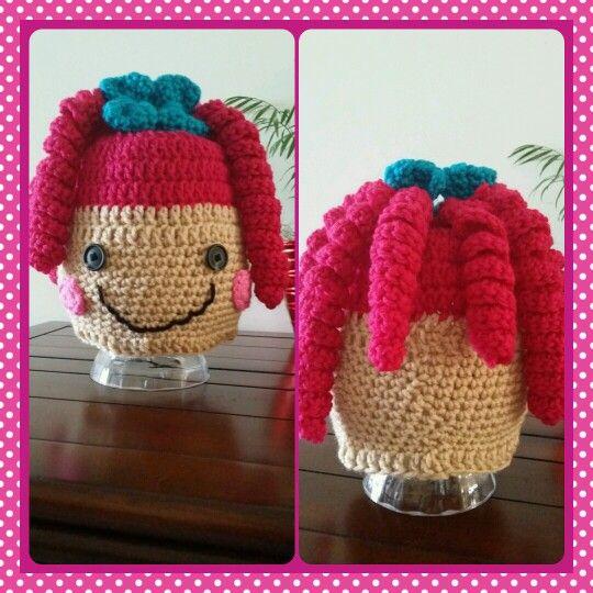 Crochet Hat - Lalaloopsy pink hair