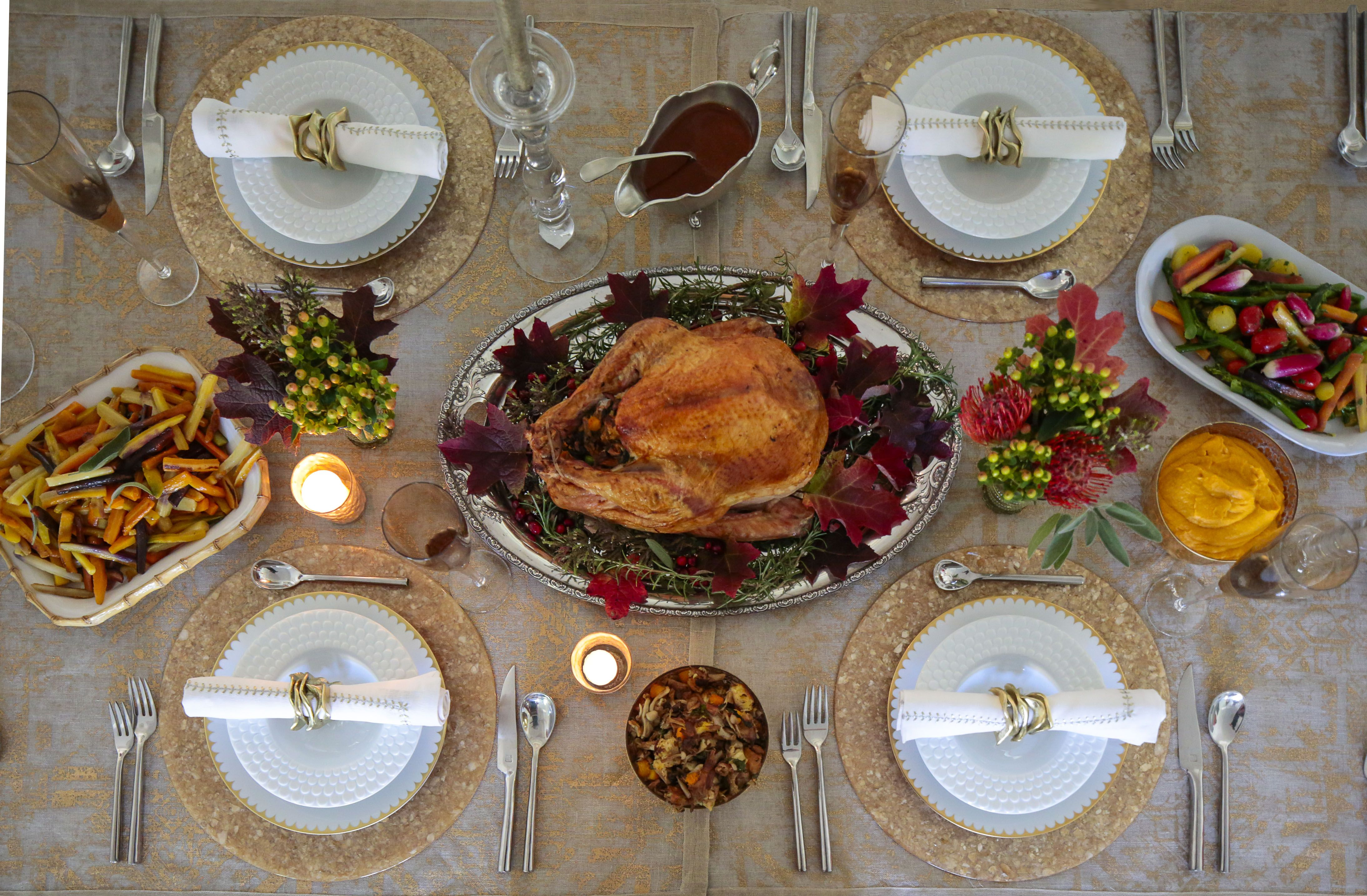 A frenchamerican feast holiday tables thanksgiving