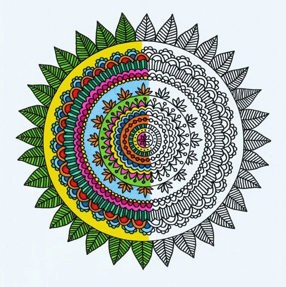 Adult Coloring Book Pages Mehndi Mandalas Printable PDF By Katie N Dunphy