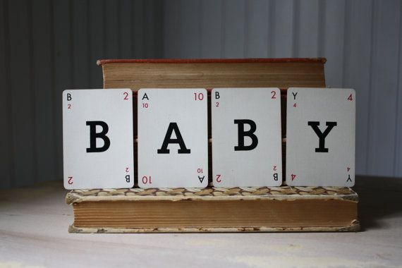 mini letter cards  BABY   by ethelu's vintage on etsy