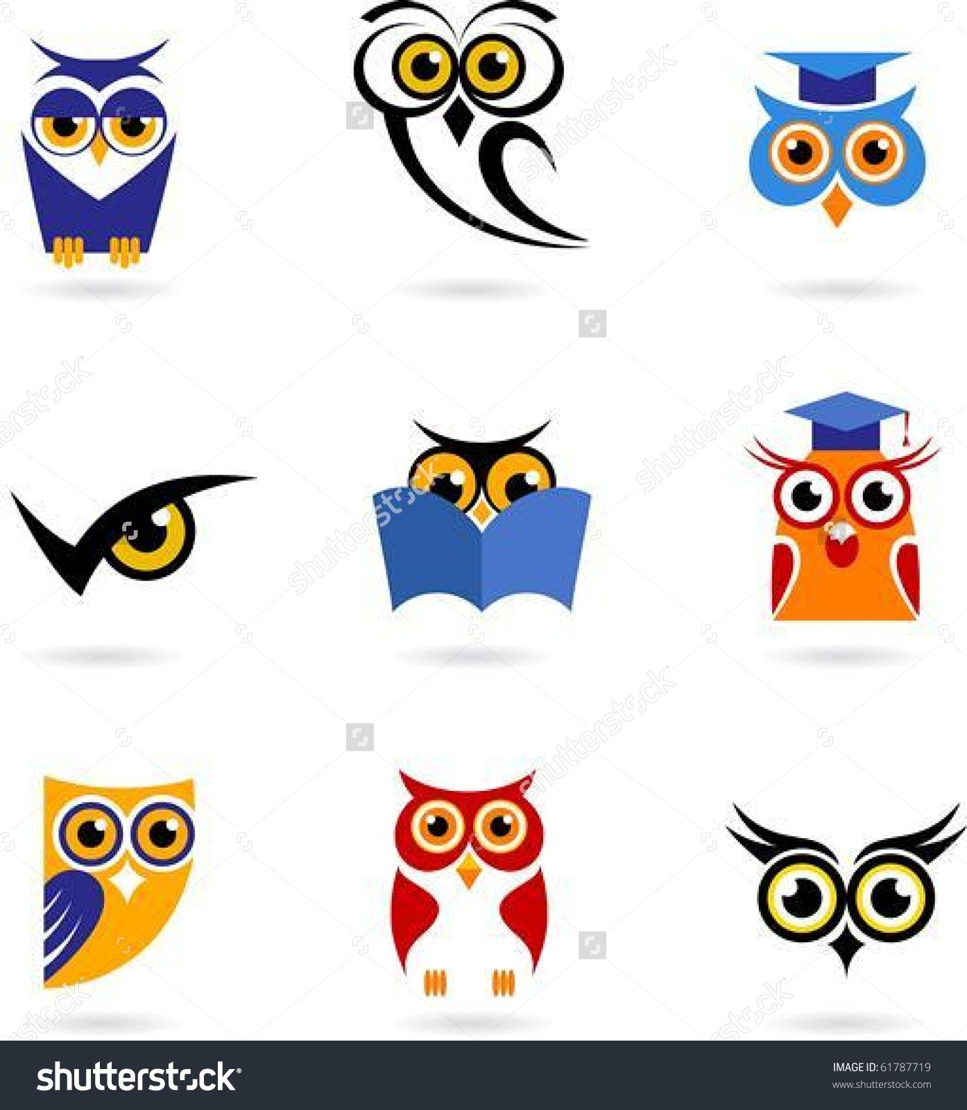 Chouette Idee: Owl Icons Set