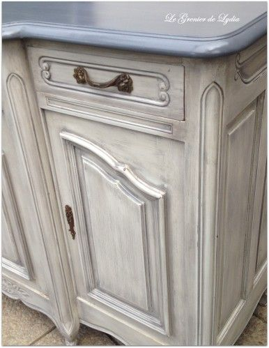 Relooking style gustavien pour ce buffet r gence relooking de meubles meubles patin s - Patiner un meuble ...