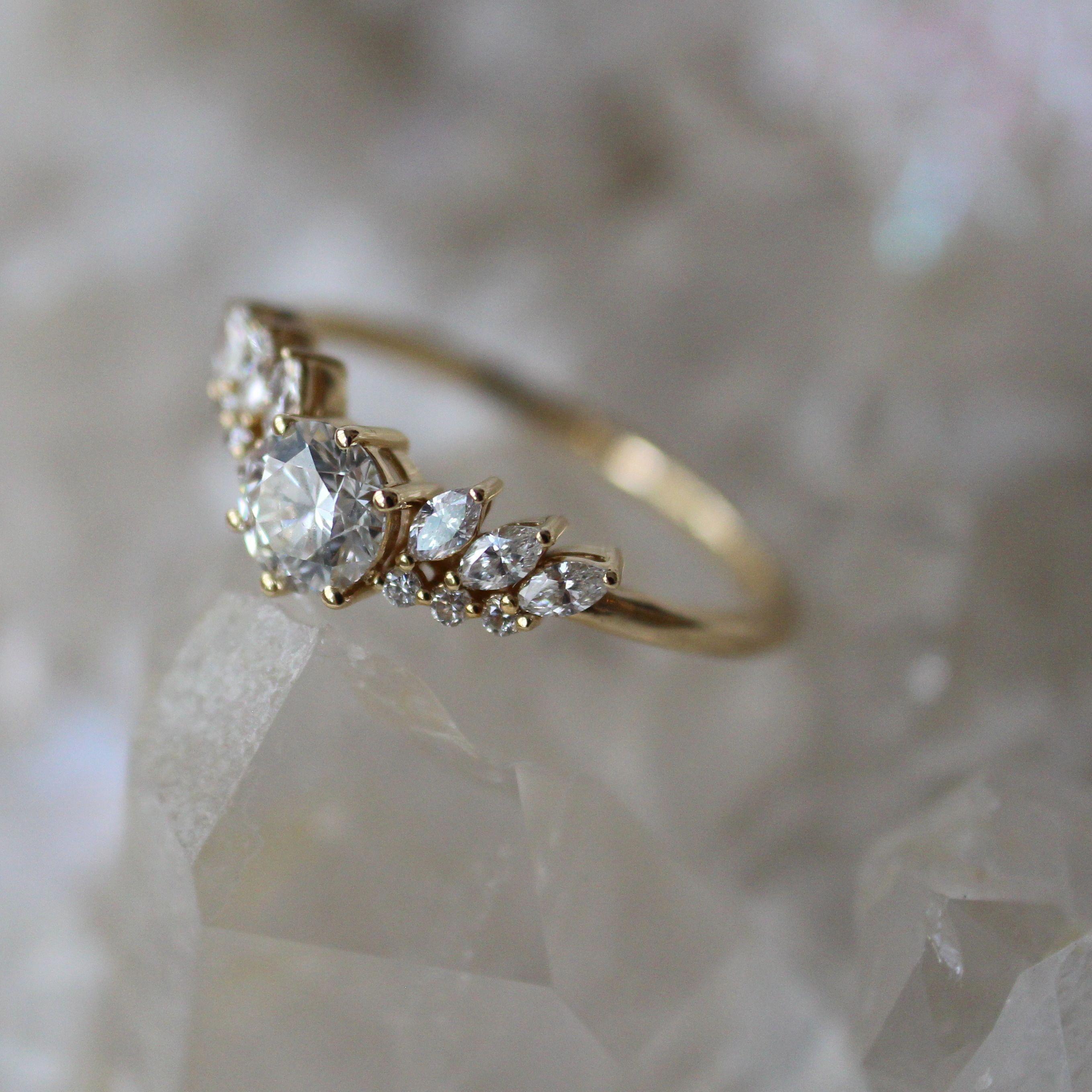 Weddingrings Vintage Gold Engagement Rings Unique Engagement Rings Pink Wedding Rings