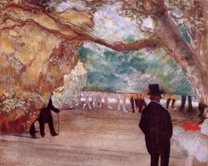 The Curtain - Edgar Degas