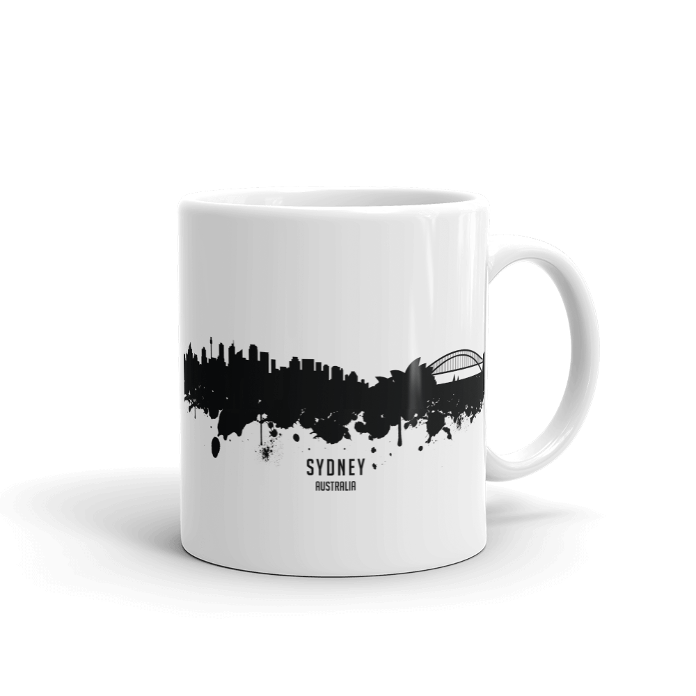 Sydney Australia Skyline Coffee Mug Modern Black Skyline