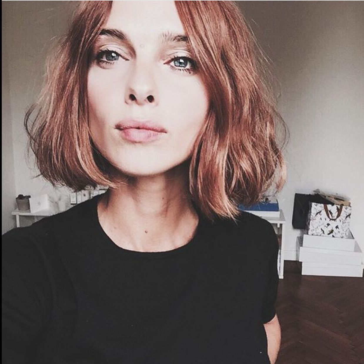 Short blunt bob hairstyle with bangs short hairstyles - Hair Cut Short And Blunt Bob More