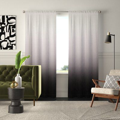 Mercury Row Nuss Ombre Room Darkening Rod Pocket Curtain Panels