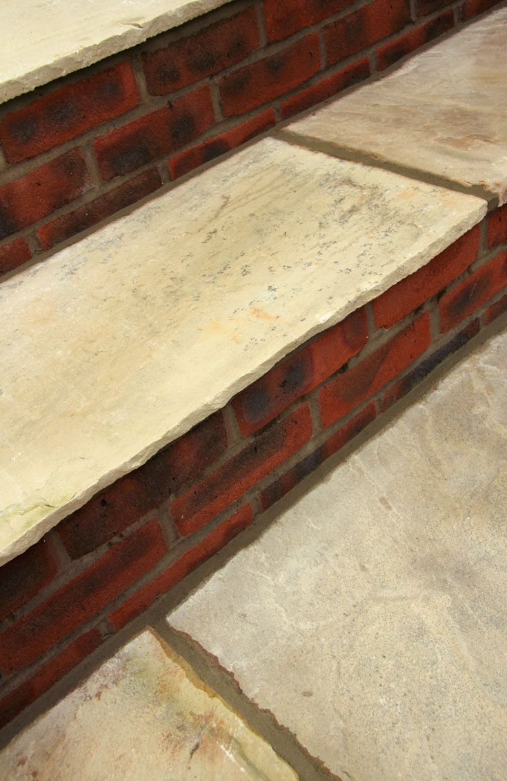 fawn beige indian sandstone paving stones are calibrated saving time when laying the slabs